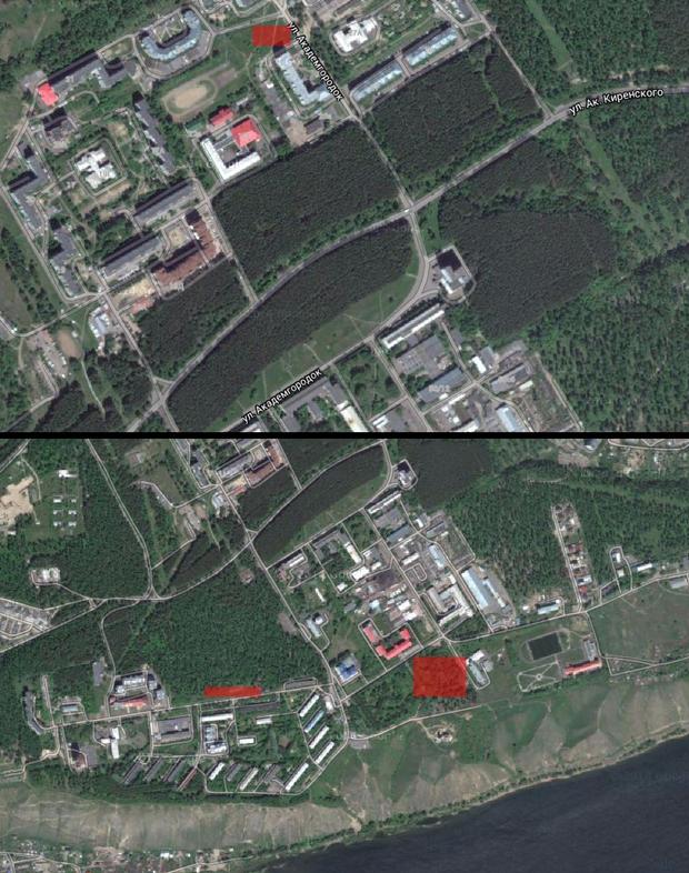 Гугл карта Академгородок