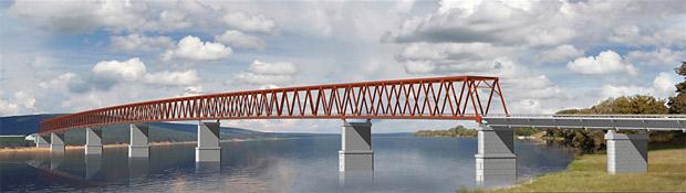 Проект самого северного моста через Енисей