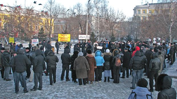 Красноярские автоперевозчики вышли на пикет против резкого роста цен на дизельное топливо