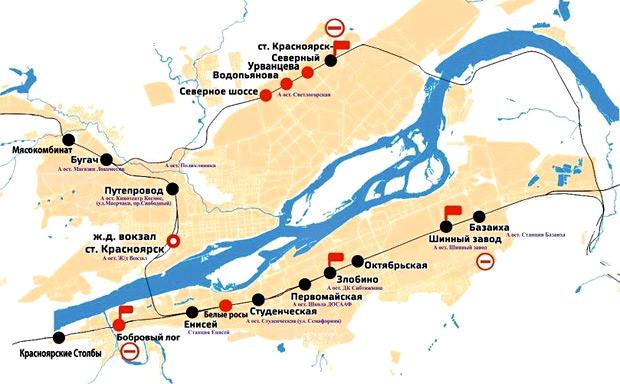 «Красноярское наземное метро