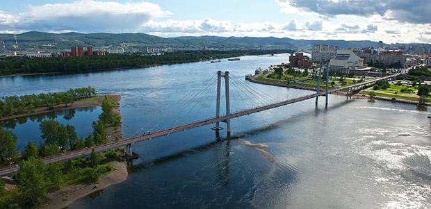 Красноярск Вантовый мост