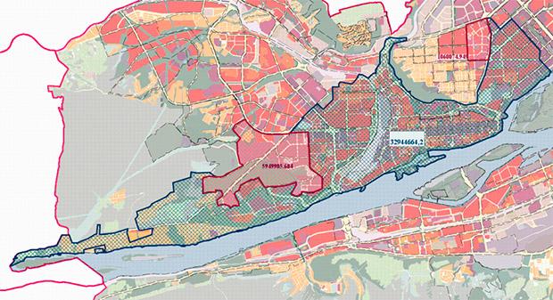 Проект планировки центральной части Красноярска
