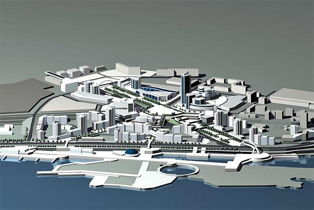 Территория Красноярского комбайнового завода уже разрисована жилыми домами и общественно-деловыми зданиями