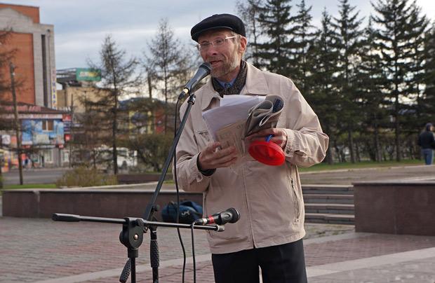 Красноярский протест скатился в утренник с песнями и стихами Dela.ru