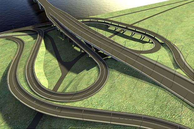 План схема строительства моста