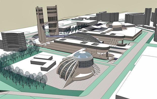 Проект планировки нового центра на Взлетке