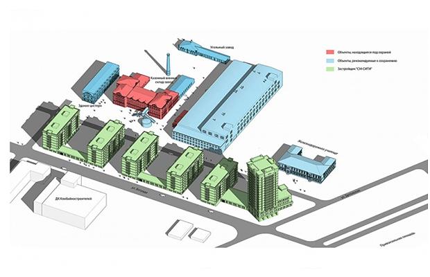 Проект застройки комбайнового завода