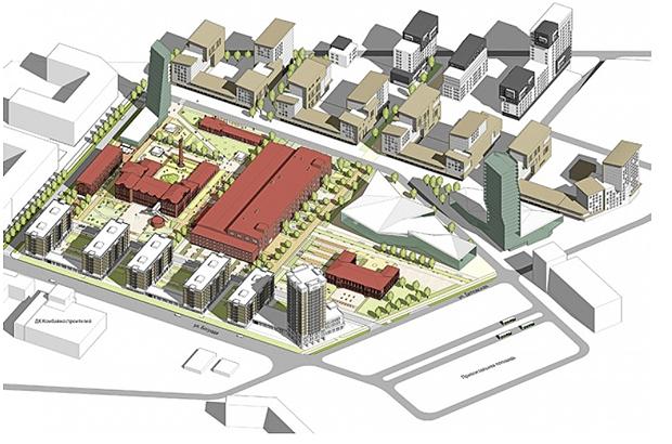 Проект территории комбайнового завода