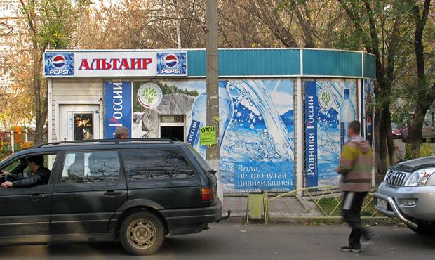 Удельный вес ларьков от общего количества объектов торговли в Красноярске составляет почти 50%