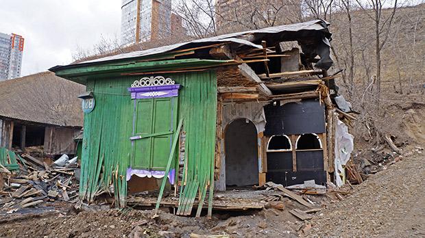 Снос домов четвертый мост Красноярск