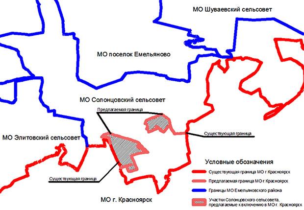 Схема присоединения Солонцов к