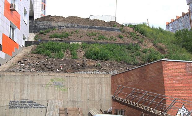 Разрушение подпорной стены в ЖК Орбита