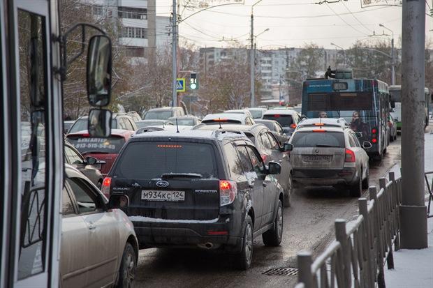 Пробка в Красноярске