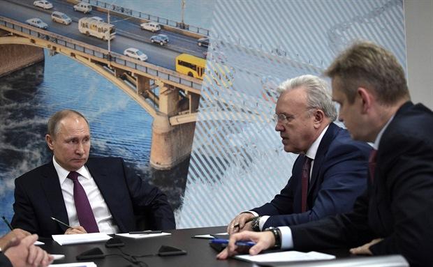 Путин на совещании в Красноярске