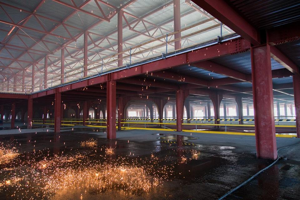 Строительство пассажирского терминала Емельяново
