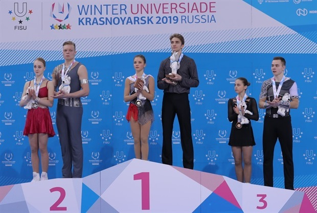 Победившие российские фигуристы