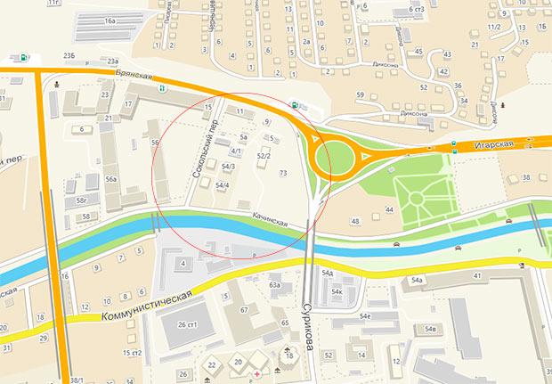 карта Кача центр Красноярск