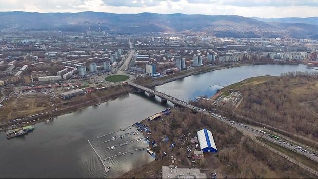 Коммунальный мост Красноярска - участок над Абаканской протокой