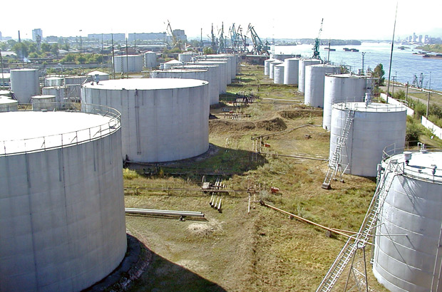Нефтебаза КНП на территории Красноярска