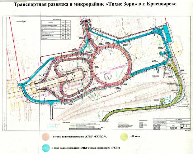развязка 4 мост Красноярск