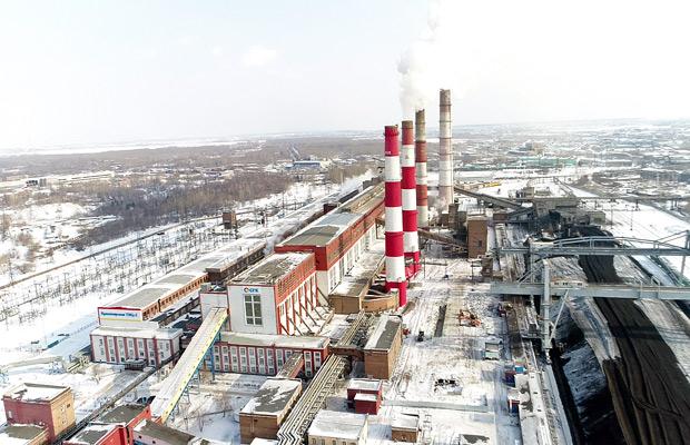 Трубы ТЭЦ-1 в Красноярске